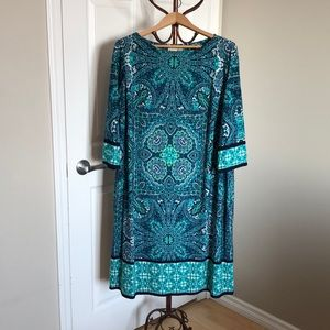 Dresses & Skirts - Blue/Teal/Green Patterned Dress